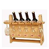 Juegos de accesorios de baño Vino cremallera de una pieza de la botella de vino de madera estante del vino Vitrina estante al revés titular de Down vino de Hogares de la copa de vino en rack Decoració