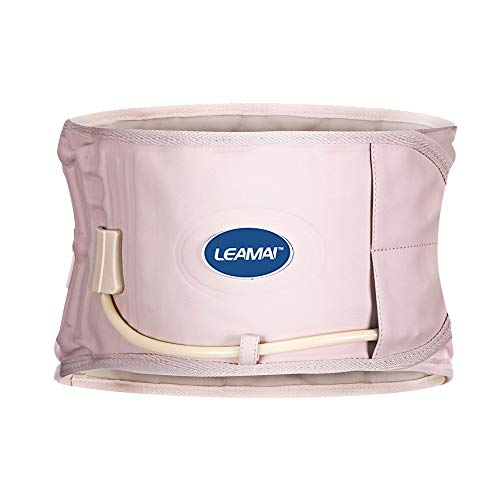 """LEAMAI- Decompression Back Belt, Bold Air Column Stronger Support for Your Back, Relief Back Pain- (Type I,Beige,Size S(25""""-36""""))"""