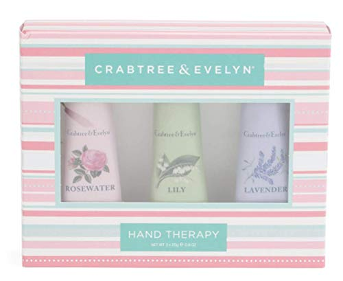 Crabtree and Evelyn Trio Hand Therapy Set Rosewater, Lavender and Lily .9 oz each