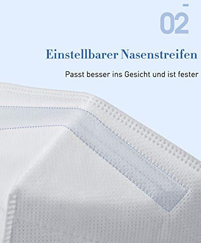 DOC 10x EN 149:2001 + A1:2009 Zertifiziertes,MASKE ffp3 (Einzeln verpackt) Atemschutzmasken FFP3,Partikelfiltermaske,Höchste Filterklasse 99% Filter - ohne Ventil