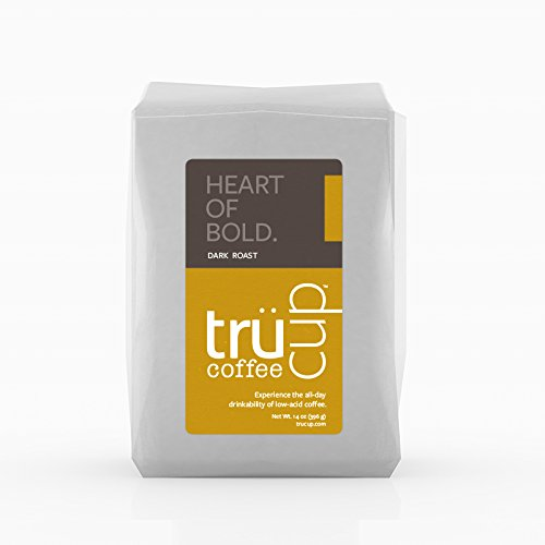 trücup Low Acid Coffee- Heart of Bold Medium Dark Roast - French Press Coarse Ground, 2 lb- Smooth Vienna Coffee - Can Be Gentle on the Stomach