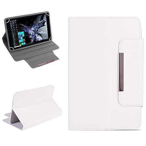 NAUC Tablet Tasche für TrekStor Surftab Breeze 7.0 Hülle Schutzhülle Case Cover Etui, Farben:Weiss