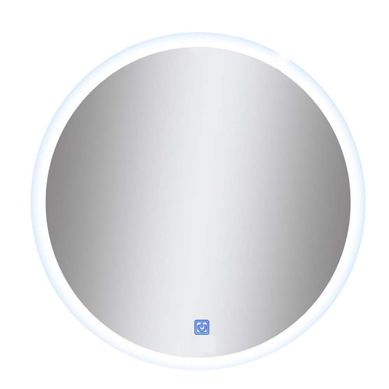 嫌いおしゃれじゃない大理石ミラーバスルーム壁掛けスマートライトミラータッチスイッチ/電子defogging/時間温度表示/照明ラウンドフレームレス - 60,70cm
