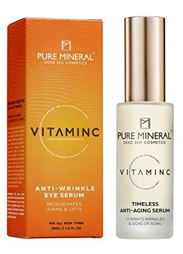 Pure Mineral Vitamin C Augenserum mit Natürlichen Totes Meer Mineralien Verjüngt Festigt und Hebt