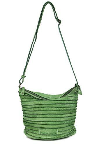 FREDsBRUDER Riffelinchen Ledertasche Umhängetasche Handtasche Leaf grün