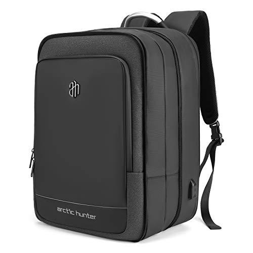Lixada 40L Laptop-Rucksack mit großer Kapazität 17-Zoll-Tagesrucksack Wasserdichtes Geschäftsreisepaket mit USB-Ladeanschluss für Geschäftsreisen