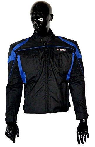 KED SOAR Motorradjacke Taifun black blue, matt, Größe XS, sportlich-elegante Jacke aus Teslan & Cordur