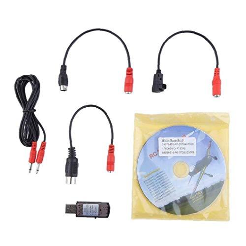 shentaotao Simulador RC Kit de Alto Rendimiento 22 en 1 USB RC Simulador de Vuelo con los Cables para Real Vuelo G7 Drone helicóptero