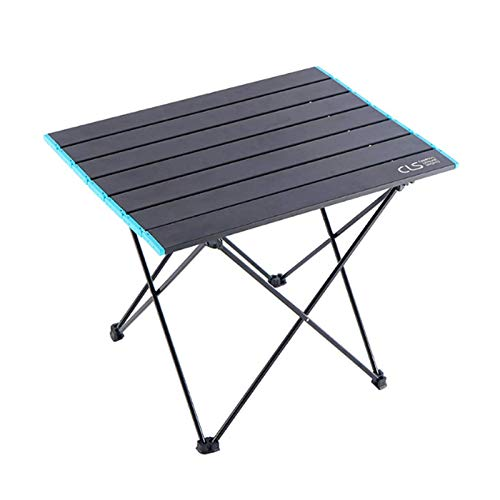 CHUN LING Folding Camping Table, Portable Ultralight Aluminum with Storage Bag, for Outdoor, Camping, Travel, Beach, BBQ, Festiva