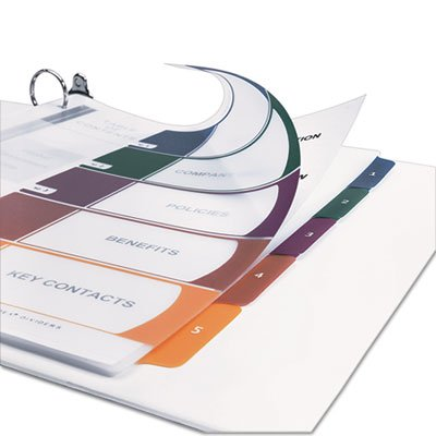 Avery Consumer Products AVE11818 Table of Contents Dividers- 10-Tab- 1-10- Tran-Multi