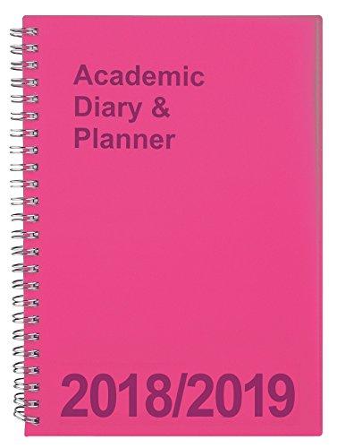 Agenda universitaria 2018/2019 formato A5, visualizzazione settimanale, rilegatura a spirale Pink