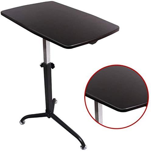 LY88 Medische lade tafel voor bed of stoel - Flat Rolling Bed Table met verstelbare hoogte - Tilt Overbed nachtkastje voor ziekenhuis en huis
