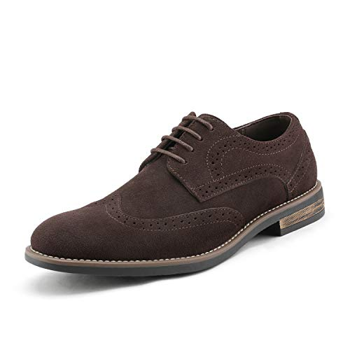 Bruno Marc Men s URBAN-03 Dark Brown Suede Leather Lace Up Oxfords Shoes - 12 M US