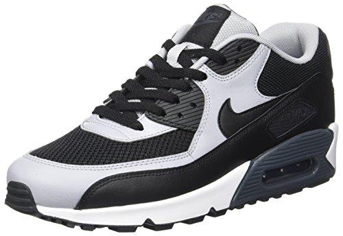 Nike Air Max 90 Essential, Chaussures de running homme, Negro / Gris (Black / Black-Wolf Grey-Anthrct), 43 EU