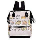 Niedliches Muster 024 Wickeltasche Große Kapazität Wickelrucksack Multiple Pockets Mummy Bag Dual-Use Tragbare Handtasche für Reisen Baby Wickelunterlage Tote Bag 27x19.8x36.5cm