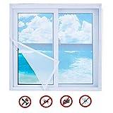 Ruber Weiß fliegennetz ohne Bohren Fliegengitter für Fenster Insektenschutz selbstklebend Dachfenster Moskitonetz Fiberglas Insect Stop,100x170cm(39x67inch)