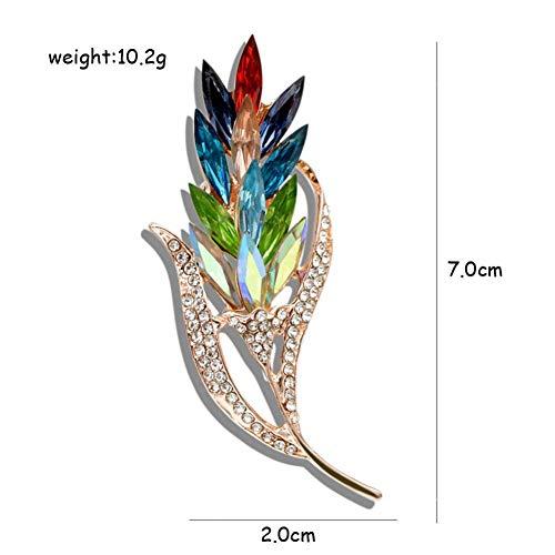 ERDING Brooch/Accessoires/Multi-color Crystal Tarwe Broches voor Vrouwen Strass Broche Pin Mode Sieraden Jas Jurk Corsage Bloem Stijl