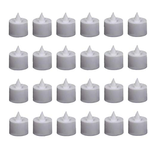 MICHAELA BLAKE LED Tea Candle Flameless Tea Candles Electric Fake Candles Set Battery Operated Tea Light for Wedding Parties Events 24PCS