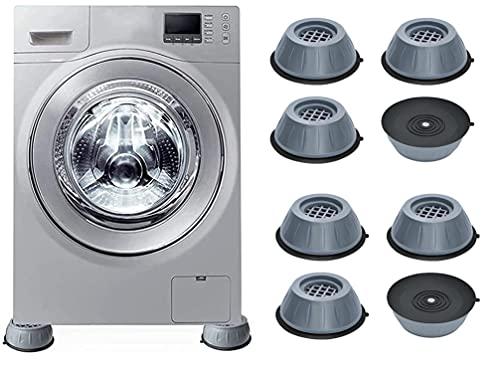 Almohadillas de soporte antivibración para lavadora, almohadillas antideslizantes de soporte para lavadora con cancelación de ruido de impacto, para pedestales de lavadora y secadora (8PCS)