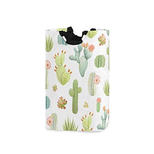 N\A Cesta de lavandería de Cactus de Dibujos Animados cesto de Ropa Plegable Duradero Ropa Sucia Gran Almacenamiento Organizador de lavandería