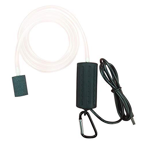 RETYLY USB Belüftungspumpe Luftpumpe Aquarium Belüfter Ultra Leise Fisch Tank Zum Angeln Sauerstoffpumpe —— Schwarz