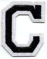 C – Buchstabe; Aufnäher/Patch mit Bügel-Klebe-Fläche zum fixieren