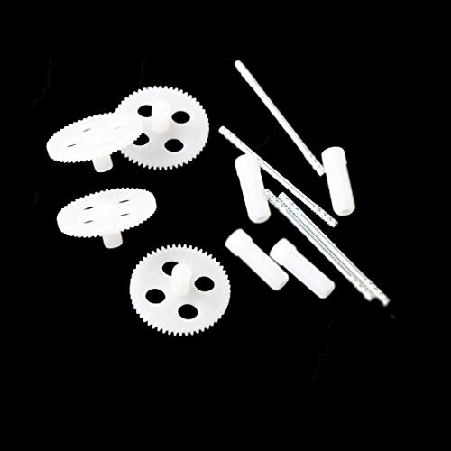 Coolplay Original Principal axis Gear (Supporting Small Hexagon ) Replacement for Syma X5 X5C X5C-1 X5SC X5SW X5HW X5HC (White)