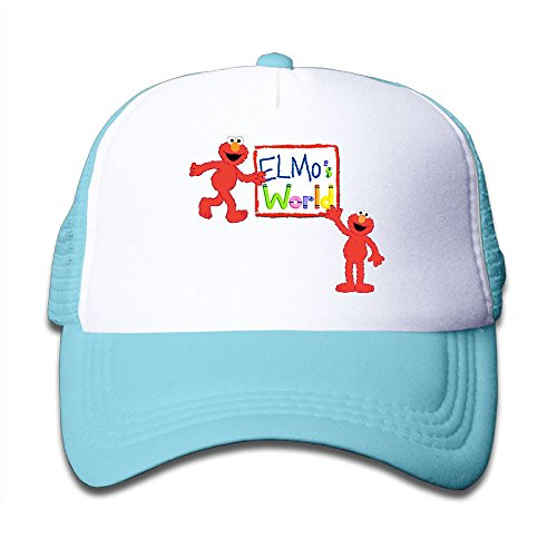 Grace Little Elmo's World Teenager Outdoor Mesh Hat Running Caps Adjustable SkyBlue