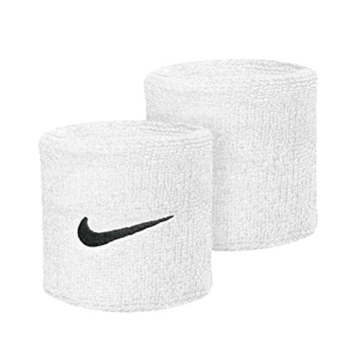 Nike POLSINI BASSI SWOOSH WRISTBANDS Bianco, Taglia unica