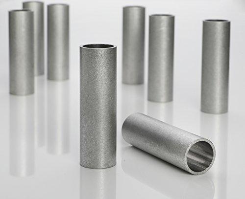 Aluminium Abstandshülsen, Distanzhülsen – ohne Innengewinde, M10 Schrauben beweglich durchsteckbar – 12 x 10 x 1 mm (Außen x Innen x Wandstärke) – 10 Stück, Länge 40 mm