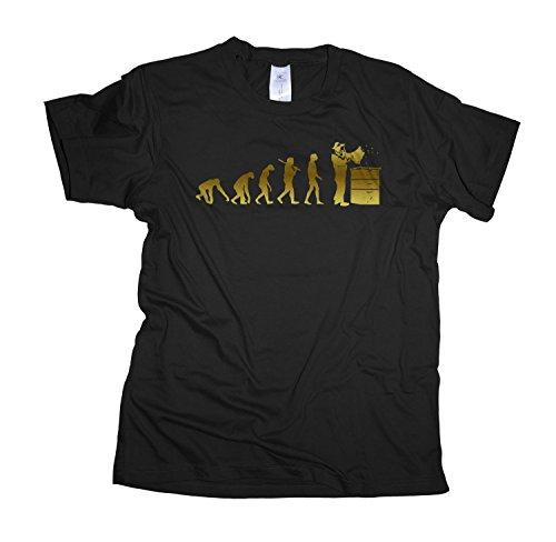 Imker Gold Edition Rundhals Herren Evolution T-Shirt BC150-black-xl