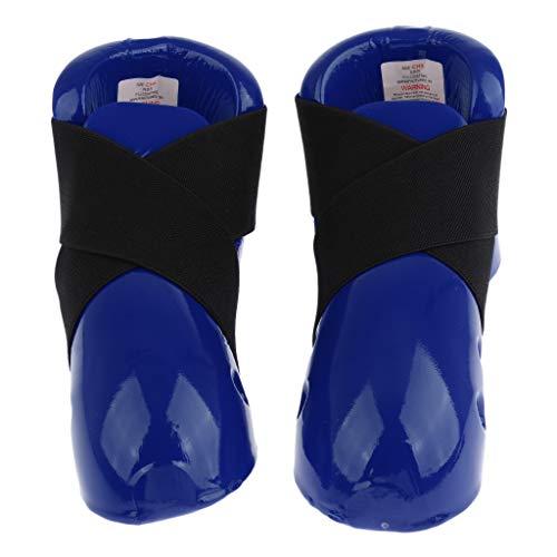 FLAMEER Verstellbar Kinder Taekwondo Fußschoner Fußschützer Knöchelschoner Fußschutz - Rot L