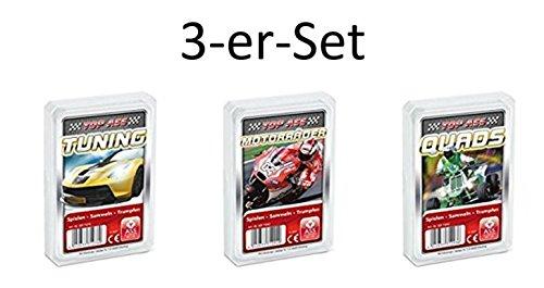 Ass Altenburger 3-er Set Quartettspiele/ Quartett Motoren/ Sport bestehend aus 1. Top Ass Tuning - 2. Top Ass Motorräder - 3. Top Ass Quads