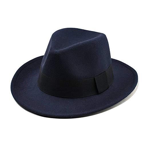 Lvcool Cappelli Autunnali per Donna Fedora di Lana Moda Fiocco Jazz Fedora Cappelli Invernali di Lana Spessa Cappelli A Tesa Larga da Cowboy