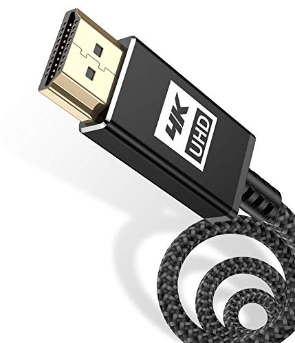 4K HDMI Kabel 2M,AviBrex HDMI Kabel 4K @ 60Hz 18Gbps Highspeed HDMI 2,0 Kabel Nylon Geflecht, vergoldete Anschlüsse mit Ethernet/Audio Rückkanal, Kompatibel mit Video 4K UHD 2160p, HD 1080p