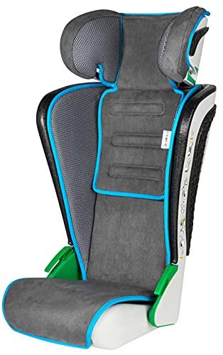 Walser Auto Kindersitz Noemi, klappbarer Kinderautositz mit höhenverstellbarer Kopfstütze, ECE R129 geprüft, mitwachsend 3-8 Jahre Anthrazit/Blau
