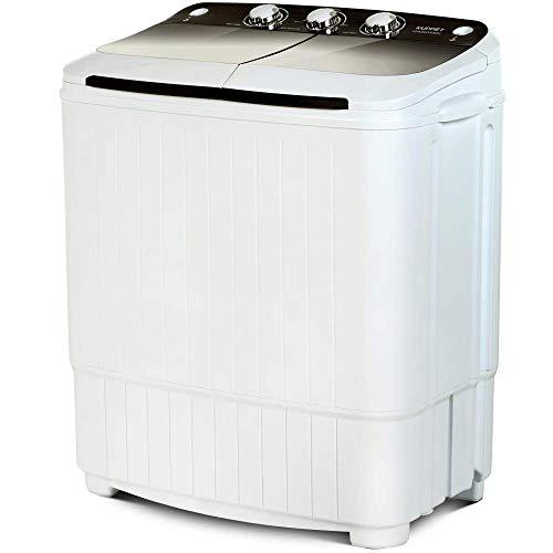KUPPET Tragbare Waschmaschine, Compact Twin Tub Wash & Spin Combo für Wohnung, Schlafsäle,...
