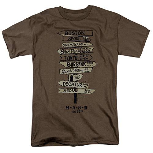 Mash Fingerpost T Shirt & Exclusive Stickers (X-Large) Safari Green