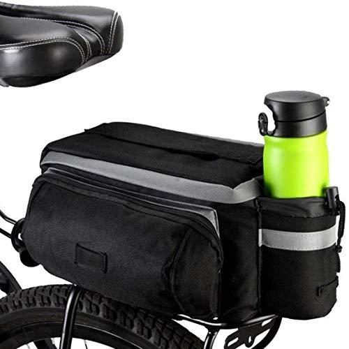 Powcan 7L Mountain Road MTB Bicycle Bike Cycling Sport Waterproof Rear Seat Bag Pannier Trunk Bag Bicycle Accessories Shoulder Handbag Bag Pannier Black