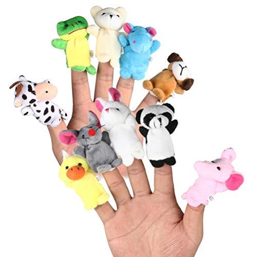 jojofuny Juego de 20 Piezas de Marionetas de Dedo Juego de Animales de Zoológico Animales de Mar Guantes de Pulgar de Juguete Muñeca de Dedo Animal Juguete Educativo para Niños