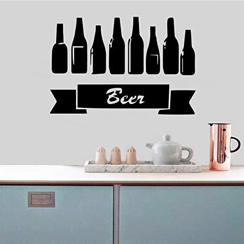 ClockGH Vinos Cerveza Pared Pegatinas Decoración del Hogar Salón Cocina Estilo Nórdico Decoración del Hogar 28cm X41cm