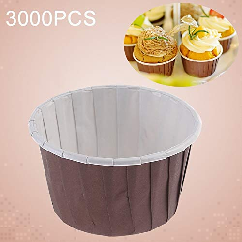 New JIANGNIUS food mold 3000 PCS Round Lamination Cake Cup Muffin Cases Chocolate Cupcake Liner Baki...