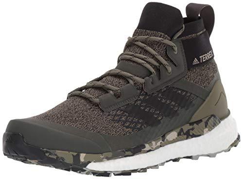 adidas Men's Terrex Free Hiker Hiking Boot, Khaki/Black/St Desert Sand, 15