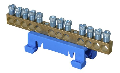 Kopp 250000001 Neutralleiter-Klemme mit Schnellbefestigung für die Hutschienen-Montage