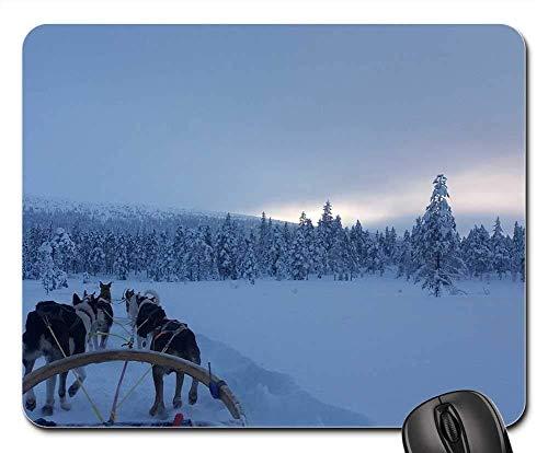 Gaming-Mauspads, Mäusematte, Schnee Winter Cold Frost Wow Doggies Hundeschlitten