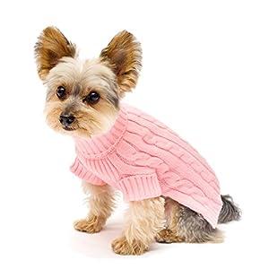 Stinky G Turtleneck Dog Sweater Pink Size #08
