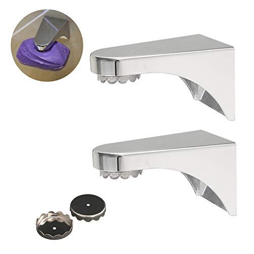 YHmall 2er Seifenhalter mit Magnet, Seifenschalen Seifenablage für Bad MEHRWEG