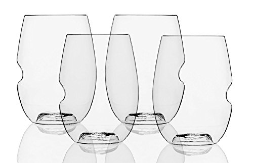 Govino Go Anywhere Flexible Shatterproof Wine Glasses, 16-ounces (Set of 72)
