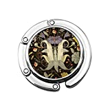 Perchero Monedero Plegable Lindo Gancho Monedero Azulejos Patrón Floral Adornado Victoriano Jacobeo Vintage Anglicano Antiguo Barroco