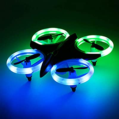 W-Dragon RC Drone, Mini Drones with LED Lights RC Quadcopter Headless Mode 2.4GHz 4 Chanel 6 Axis Gyro Steady Hold Height Helicopter for Training